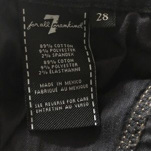 7 For All Mankind Jeans - 7 for all Mankind Cropped Blue Jeans